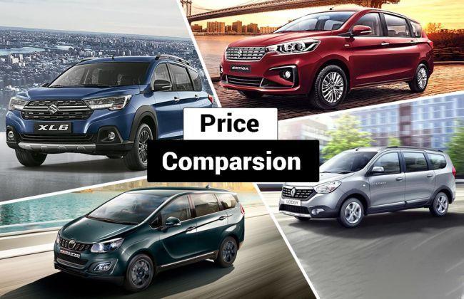 Maruti XL6 vs Maruti Ertiga vs Mahindra Marazzo vs Renault Lodgy: What Do The Prices Say? - CarDekho thumbnail