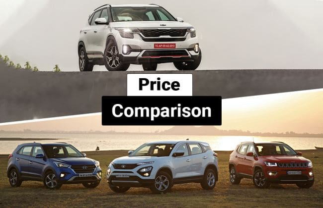 Kia Seltos vs MG Hector vs Tata Harrier vs Nissan Kicks: What Do The Prices Say?