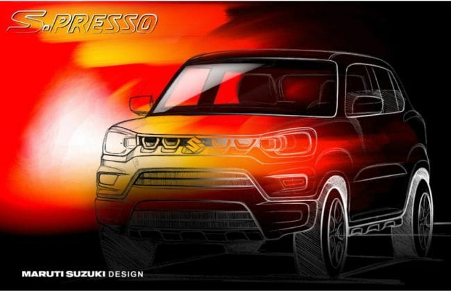 Maruti S-Presso Official Sketch Revealed; Launch On September 30