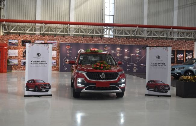 MG Hector Crosses 10k Production Milestone, Total Bookings Close To 40K