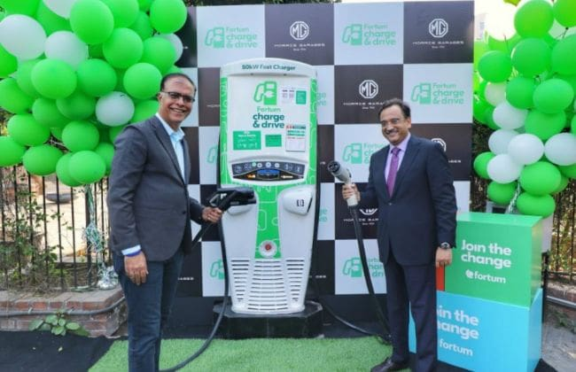 MG Unveils Its First Public EV Fast Charging Station In Gurugram