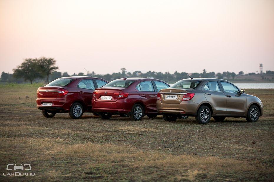 Maruti Dzire vs Honda Amaze vs Ford Aspire