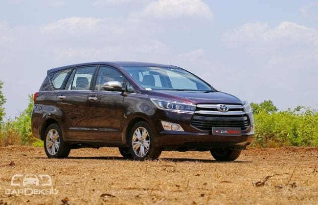 Toyota Innova Crysta Road Test Images