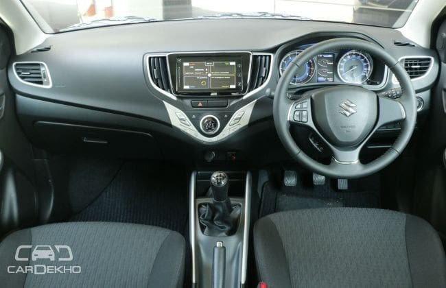 Pre-facelift Baleno RS dashboard
