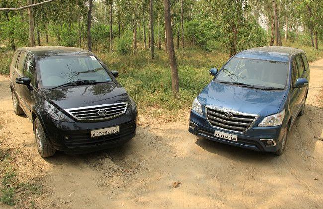 2014 Tata Aria vs 2014 Toyota Innova: Comparison test