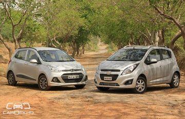 2014 Chevrolet Beat vs Hyundai Grand i10: Comparison test