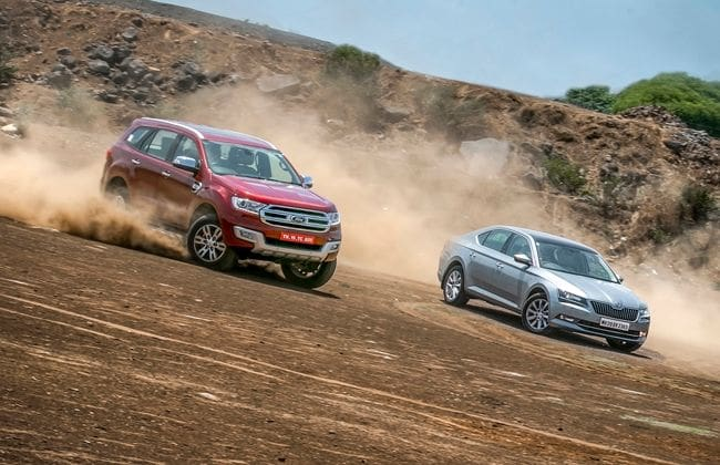 Skoda Superb vs Ford Endeavour   Comparison Review