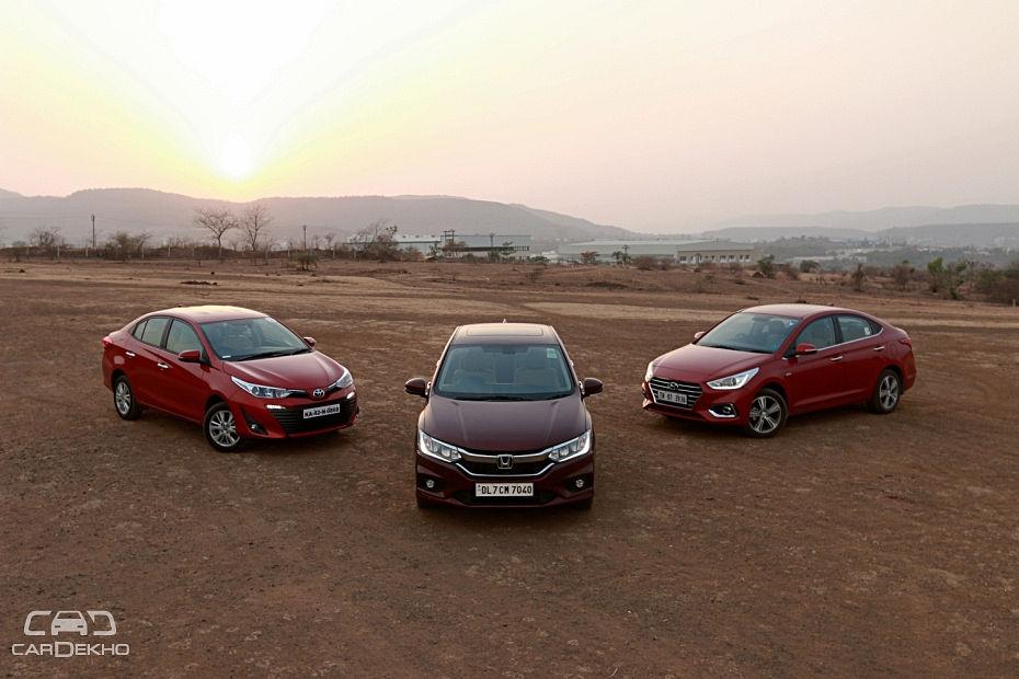 Toyota Yaris vs Hyundai Verna vs Honda City: Petrol Automatic Comparison Review