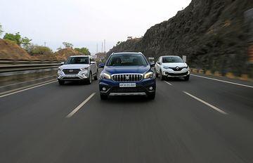 Hyundai Creta vs Renault Captur vs Maruti S-Cross: Diesel Manual Comparison Review