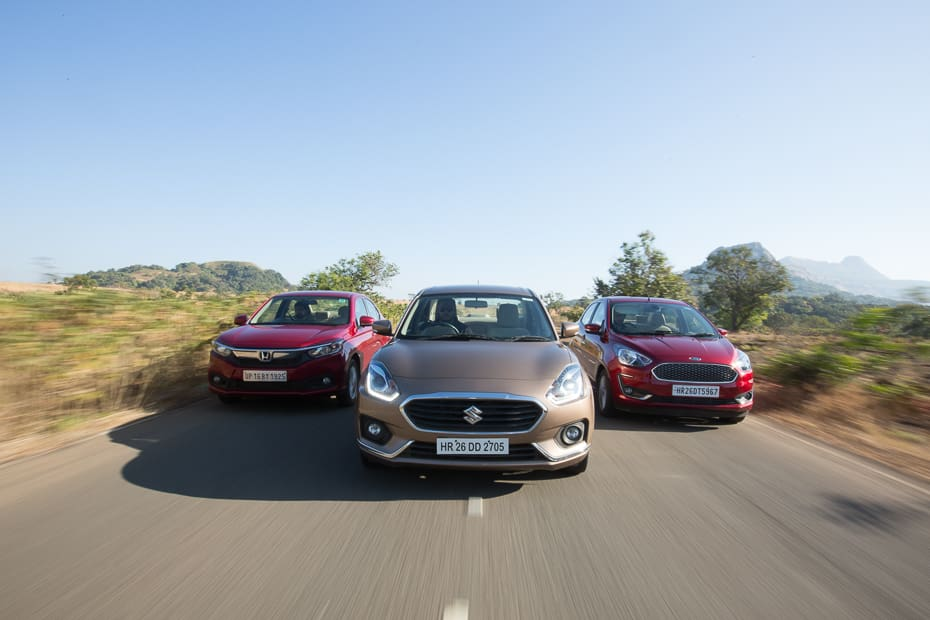 Maruti Dzire vs Honda Amaze vs Ford Aspire: Comparison