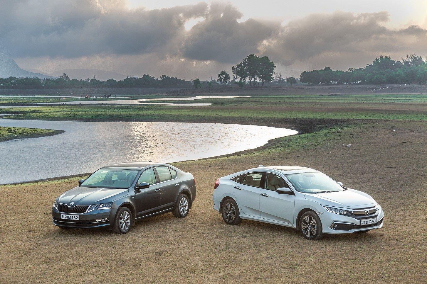 Honda Civic vs Skoda Octavia: Petrol Comparison Review