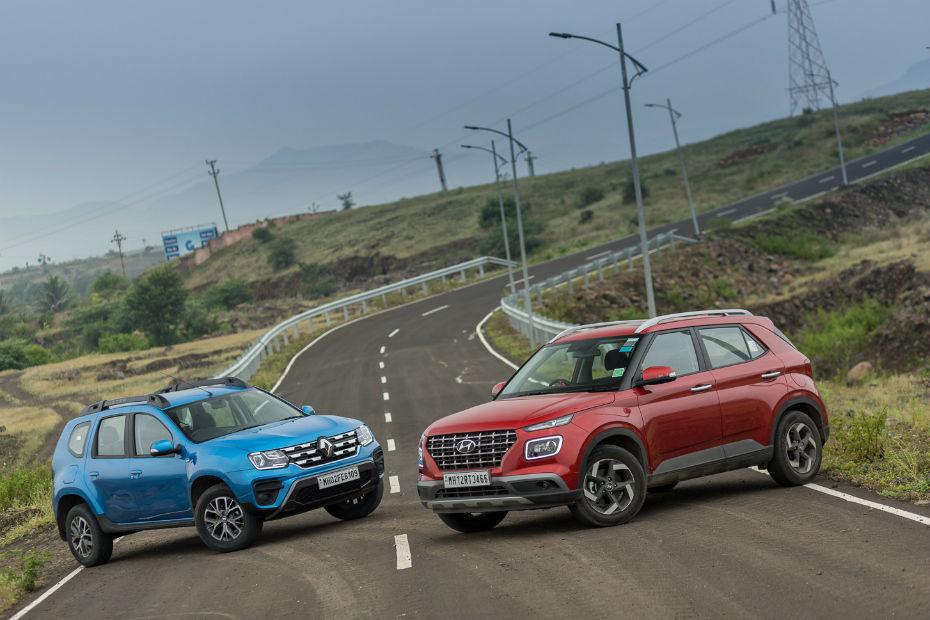 Hyundai Venue Petrol DCT vs Renault Duster Petrol CVT: Comparison Review